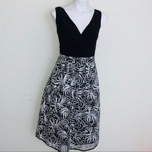 Special occasion black and white Aline dress.